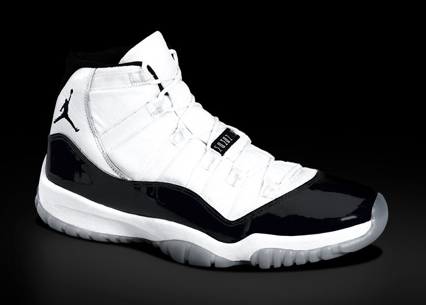 Nike Air Jordan XI (11), Michael Jordan signature shoes.