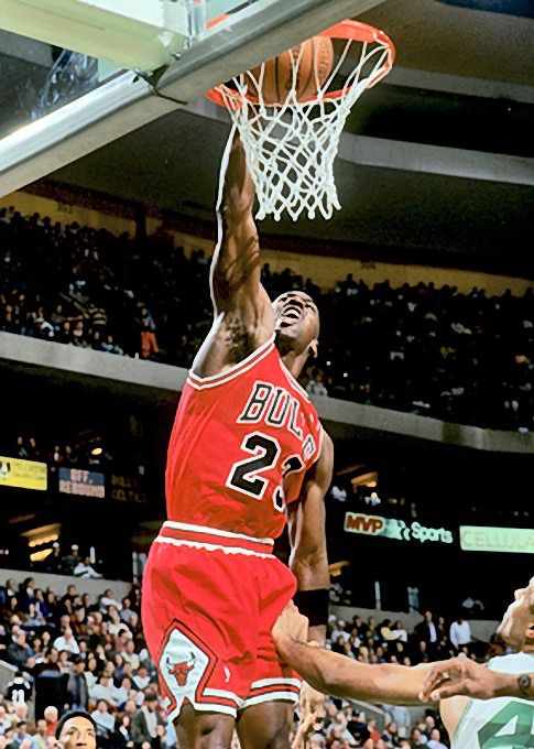 Michael Jordan Pictures Mj Dunks The Ball Playing For The