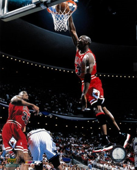 Michael Jordan Pictures Mj Dunking It Against The Orlando Magic