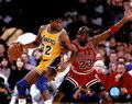 Magic Johnson & Michael Jordan 1991 NBA Finals